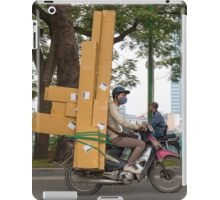 Scooter in Hanoi with long load iPad Case/Skin