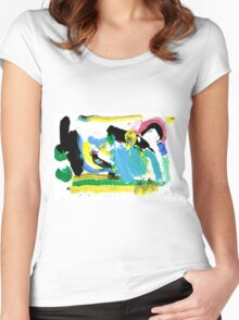 Fun with Paint Women's Fitted Scoop T-Shirt