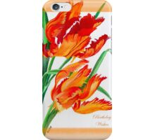 Birthday Wishes - Parrot Tulips iPhone Case/Skin