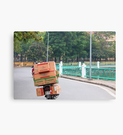 Scooter Cardboard Box Load Hanoi Canvas Print