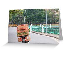 Scooter Cardboard Box Load Hanoi Greeting Card