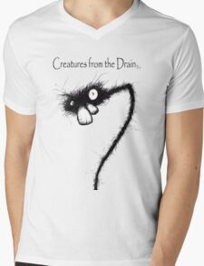 creatures from the drain raw austin 5 Mens V-Neck T-Shirt