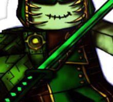 Green Samurai Blox Sticker