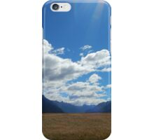 Milford Sound New Zealand Field Landscape iPhone Case/Skin