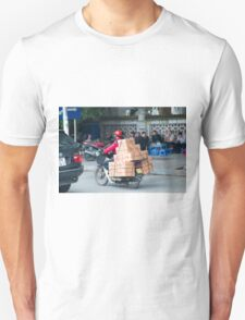 Scooter in Hanoi with Box Unisex T-Shirt