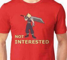 CLOUD   Super Smash Taunts   Not interested Unisex T-Shirt