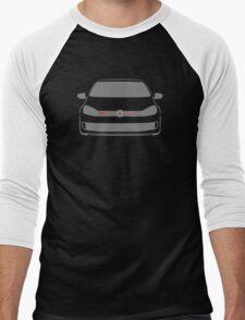 VW GTI Front Silhouette Grey Men's Baseball ¾ T-Shirt