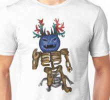 Blue Pumpkin Skeleton Blox Unisex T-Shirt