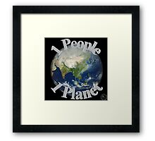 Send a clear message Framed Print