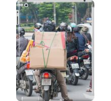 Scooter in Hanoi with Box Load iPad Case/Skin