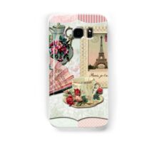 Vintage French Chocolate Victorian Eiffel Tower Lace Frame Samsung Galaxy Case/Skin