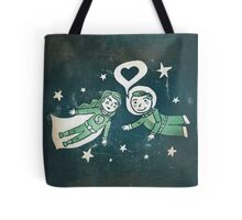 It's a funny story, how we met... Tote Bag