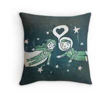 It's a funny story, how we met... Throw Pillow