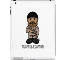 Devil of Ramadi : AMERICA'S DEADLIEST SNIPER: A TRIBUTE TO CHRIS KYLE iPad Case/Skin