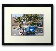 Scooter Load in Hoi An Vietnam Framed Print