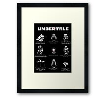 Undertale Character Funny Framed Print