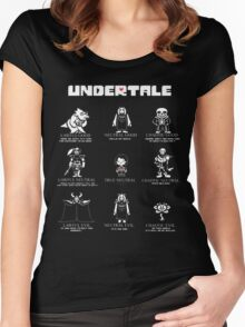 Undertale Character Funny Women's Fitted Scoop T-Shirt