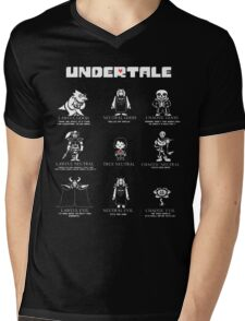 Undertale Character Funny Mens V-Neck T-Shirt