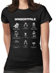 Undertale Character Funny Womens Fitted T-Shirt