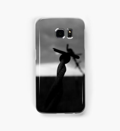 SILHOUETTE OF RUSTED BARBED WIRE Samsung Galaxy Case/Skin