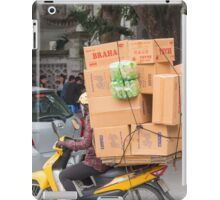 Scooter Navigates Hanoi with load Vietnam iPad Case/Skin