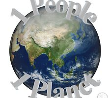 1 People 1 Planet (White) by E Creations