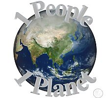 1 People 1 Planet (White) Photographic Print