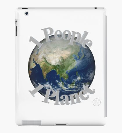 1 People 1 Planet (White) iPad Case/Skin