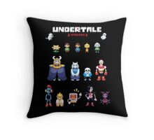 Undertale Character Color Version Throw Pillow