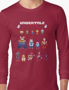 Undertale Character Color Version Long Sleeve T-Shirt