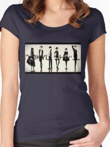 tokyo ghoul 28 Women's Fitted Scoop T-Shirt
