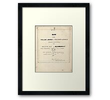 Civil War Maps 1104 Maps illustrating Gen'l Sherman's ''March to the sea'' and through the Carolinas and Virginia 05 Framed Print