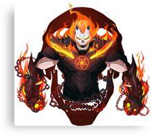 Iron Man X Ghost Rider Canvas Print