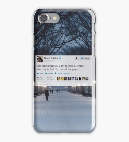 Misha Tweet  iPhone Case/Skin