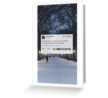 Misha Tweet  Greeting Card