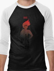 Red silhouette Men's Baseball ¾ T-Shirt