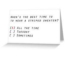 Spongebob: Striped Sweater Greeting Card