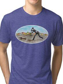 Walk with dog (2) Tri-blend T-Shirt