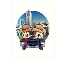 Winchesters in Houston Art Print