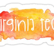 Virginia Tech University - Watercolor Sticker