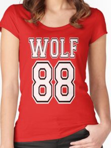 ♥♫WOLF 88-Splendiferous K-Pop EXO Clothing & Cases & Stickers & Bags & Home Decor & Stationary♪♥ Women's Fitted Scoop T-Shirt