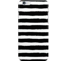 Vector Brush Strokes Black White Pattern iPhone Case/Skin