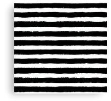 Vector Brush Strokes Black White Pattern Canvas Print