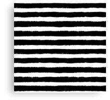 Vector Brush Strokes Black White Pattern Canvas Print