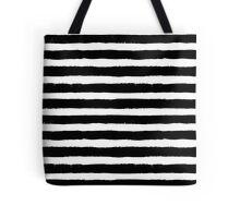 Vector Brush Strokes Black White Pattern Tote Bag