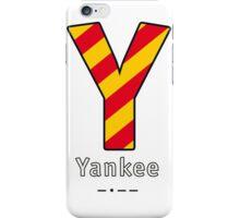 Y = Yankee iPhone Case/Skin