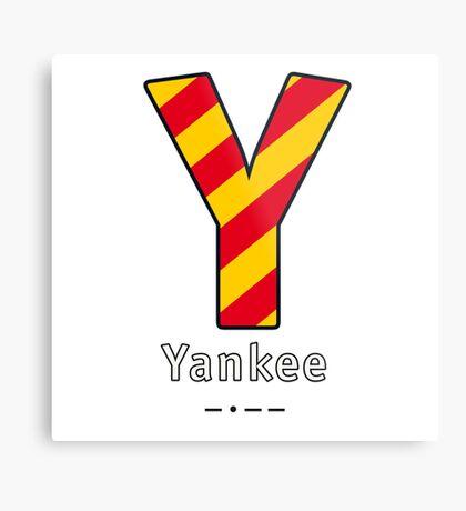 Y = Yankee Metal Print
