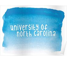 University of North Carolina - Watercolor Poster