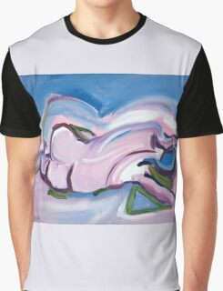 Abstract Reclining Male Nude Graphic T-Shirt
