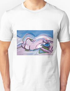 Abstract Reclining Male Nude Unisex T-Shirt